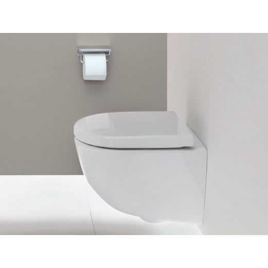 Laufen - Pro Wall Hung Pan with Antibacterial Seat - PROWC9 profile large image view 2