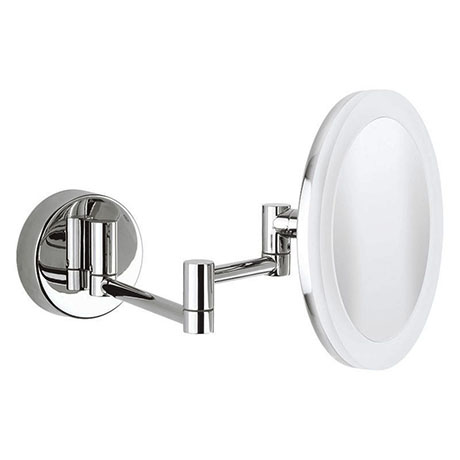 Crosswater MPRO Round Cosmetic Mirror with Extendable Arm - PRO_MIRROR2