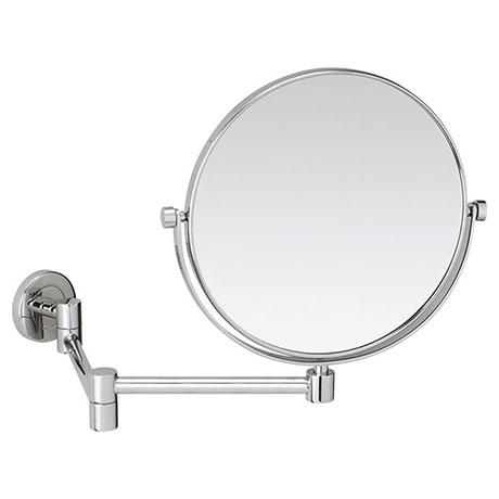 Crosswater MPRO Round Cosmetic Mirror with Extendable Arm - PRO_MIRROR3