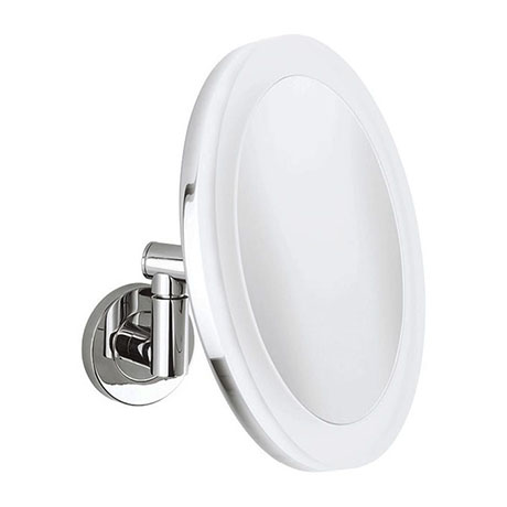 Crosswater MPRO Rechargeable Round Cosmetic Mirror - PRO_MIRROR