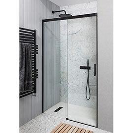 Crosswater Design+ Matt Black Sliding Shower Door