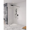 Crosswater Design+ Matt Black Walk-In/Side Panel profile small image view 1