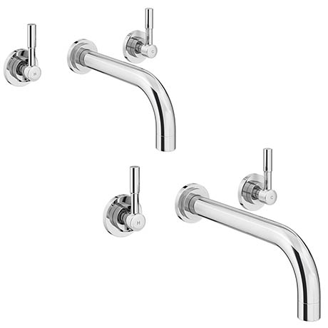 Primo Wall Mounted Tap Package (Bath + Basin Tap)