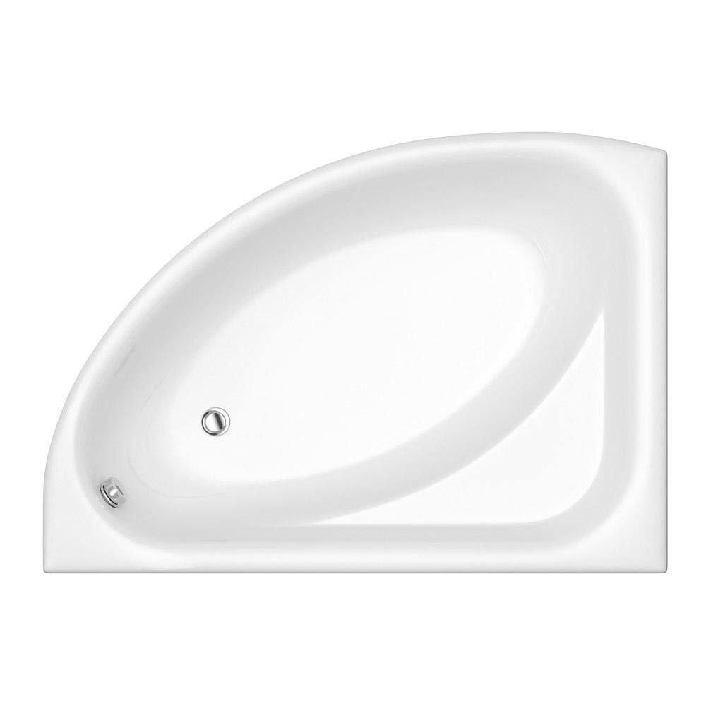 Trojan Florida LH Offset Corner Bath 1495 x 1010mm + Panel profile large image view 2