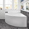 Trojan Laguna Corner Bath 1200 x 1200mm + Panel profile small image view 1