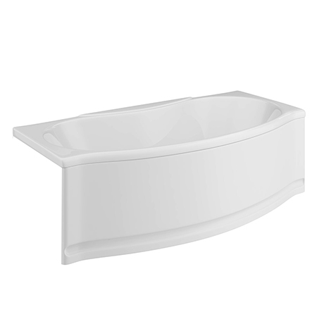 Trojan Lucina Bow Front Double Ended Alcove Bath with Front Panel - 1700 x 800mm