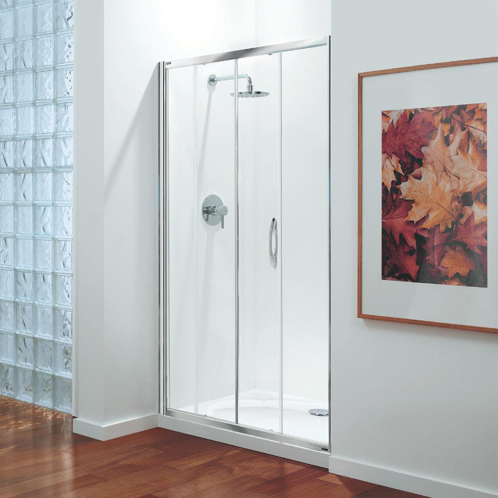 Coram - Premier Sliding Shower Door - Various Size Options Large Image