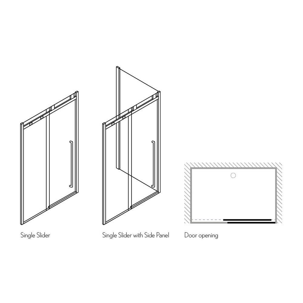 Simpsons Pier Sliding Shower Door Feature Large Image