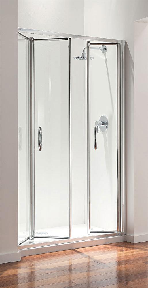 Coram - Premier 1200mm Tri-Fold Shower Door Large Image