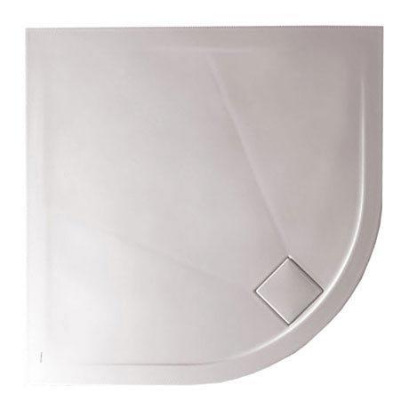 Simpsons - Plus+Ton Quadrant Matt White Ceramic Shower Tray & Waste - 900 x 900 x 30mm