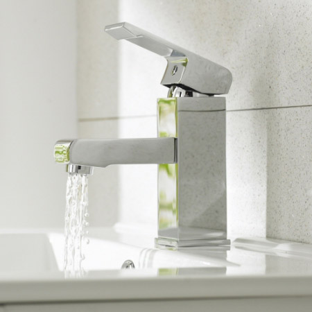 Ultra Series P Mono Basin Mixer Tap Inc. Waste - Chrome - PTY365 profile large image view 2