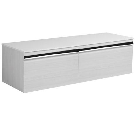 Roper Rhodes Pursuit 1200mm Wall Mounted Unit with Solid Surface Worktop - Alpine Elm
