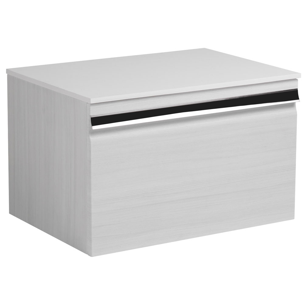 Roper Rhodes Pursuit 600mm Wall Mounted Unit with Solid Surface Worktop - Alpine Elm Large Image
