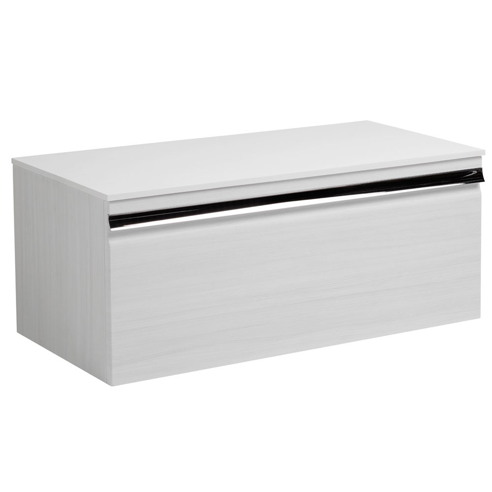 Roper Rhodes Pursuit 900mm Wall Mounted Unit with Solid Surface Worktop - Alpine Elm Large Image