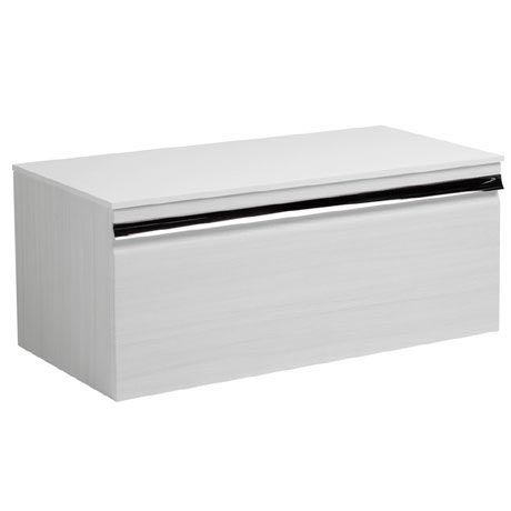 Roper Rhodes Pursuit 900mm Wall Mounted Unit with Solid Surface Worktop - Alpine Elm