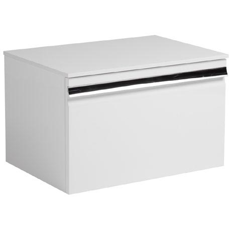 Roper Rhodes Pursuit 600mm Wall Mounted Unit with Solid Surface Worktop - Gloss White