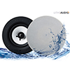 """Proofvision Lithe Audio Bluetooth Bathroom 6.5"""" Ceiling Speaker profile small image view 1"""
