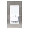 Proofvision Oral-B In Wall Electric Toothbrush Charger with Shaver Socket - Brushed Steel profile small image view 1