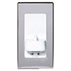 Proofvision Oral-B In Wall Electric Toothbrush Charger with Shaver Socket - Polished Steel profile small image view 1