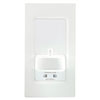 Proofvision Oral-B In Wall Electric Toothbrush Charger with Shaver Socket - White Plastic profile small image view 1