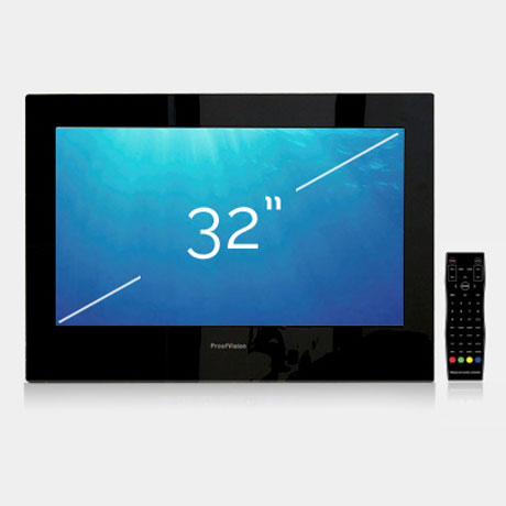"ProofVision 32"" Premium Widescreen Waterproof Bathroom TV profile large image view 1"
