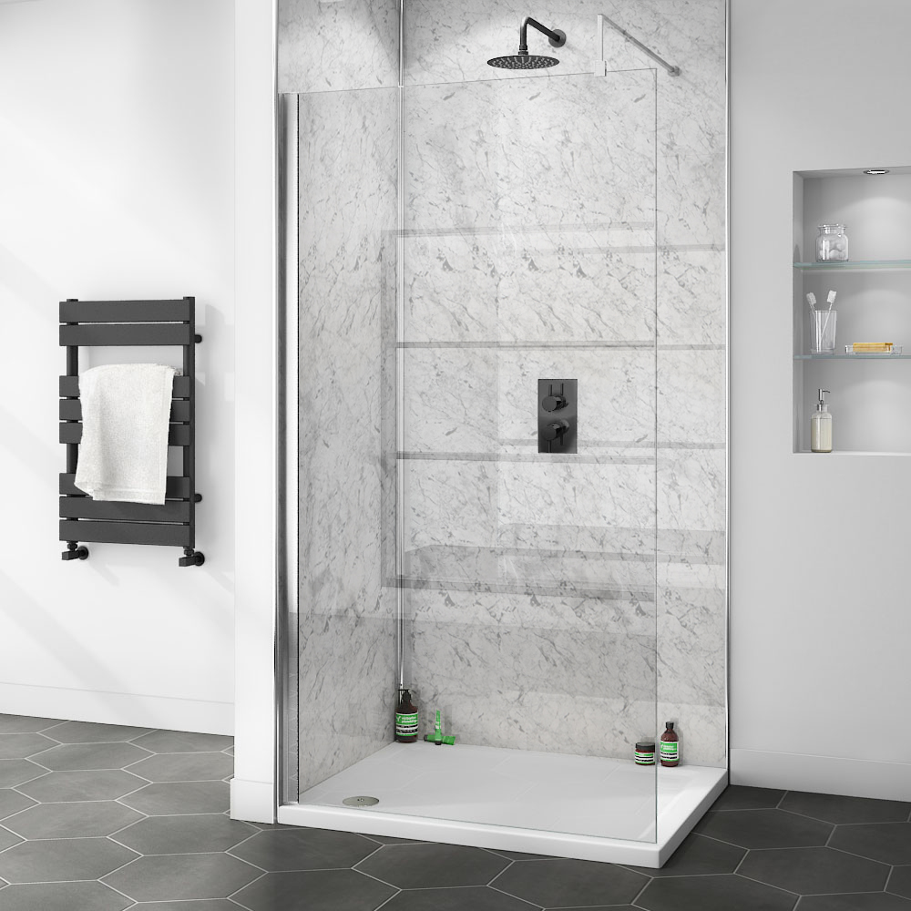 Orion White Marble PVC Shower Wall Panel | Choosing the Best Paint for Bathrooms