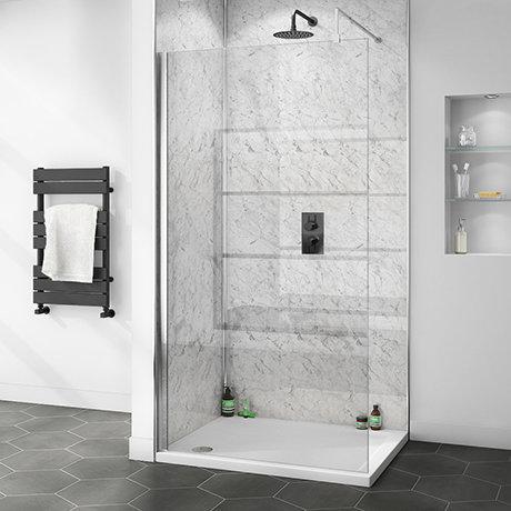 Shower Wall Panel BLACK SPARKLE Wet Wall Splashpanel UK's TOUGHEST PVC BOARDS