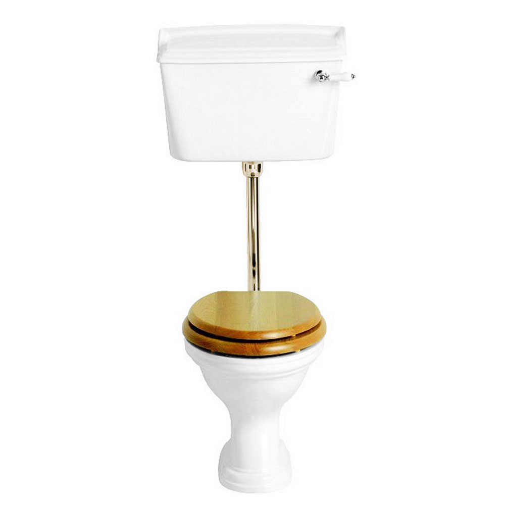 Heritage - Dorchester Low-level WC & Gold Flush Pack - Various Lever Options Large Image