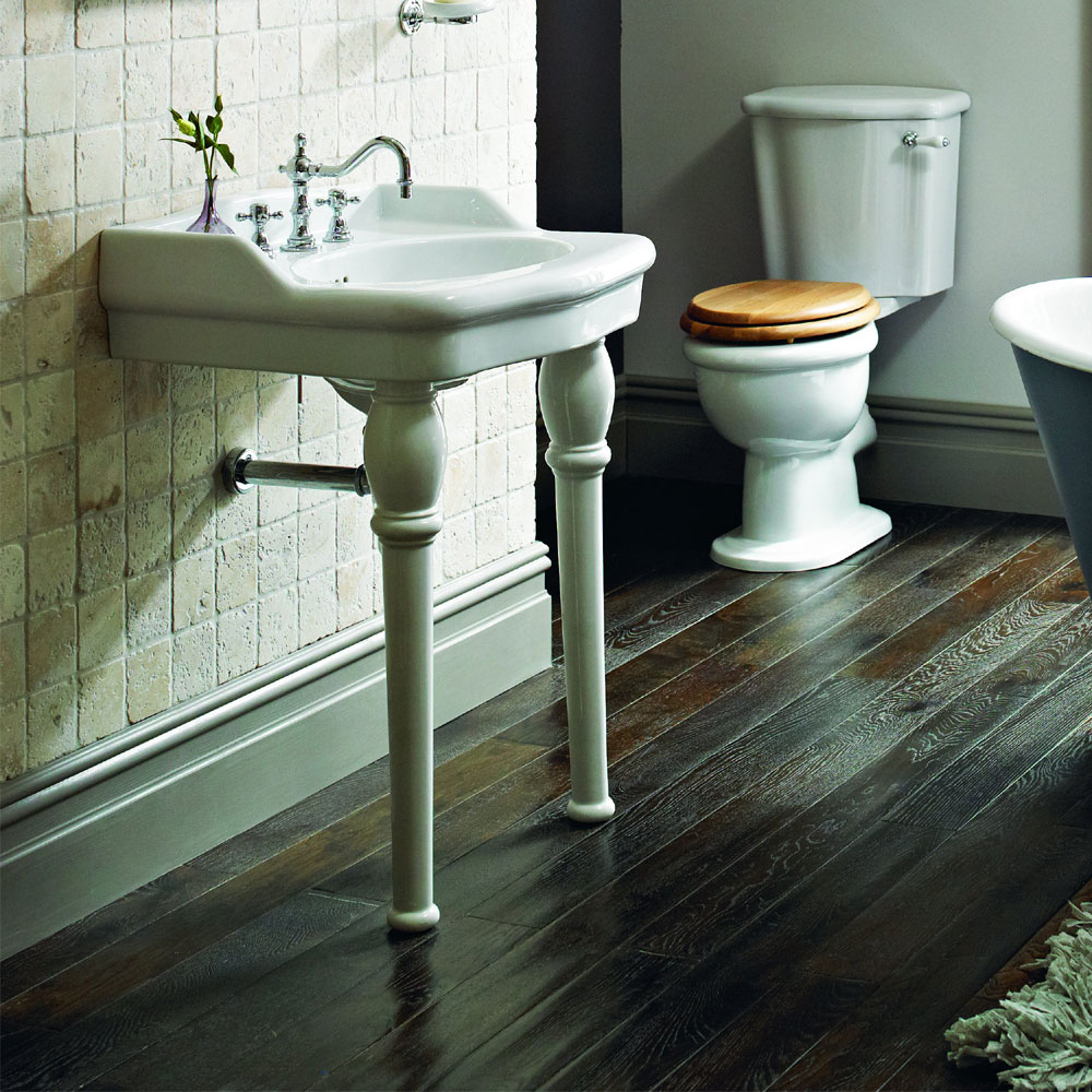 Heritage - New Victoria 3TH Standard Basin & Console Legs Standard Large Image