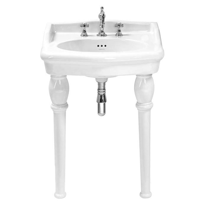 Heritage - New Victoria 3TH Standard Basin & Console Legs Large Image