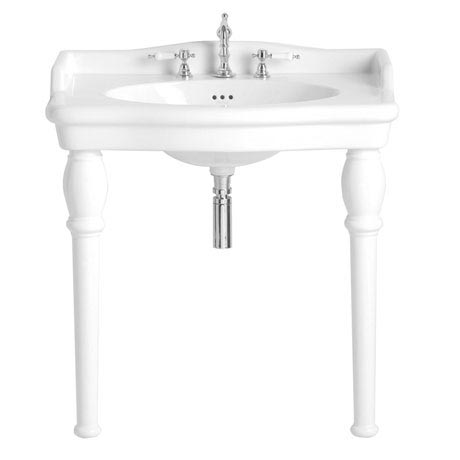 Heritage - New Victoria 3TH Single Console Basin & Console Legs