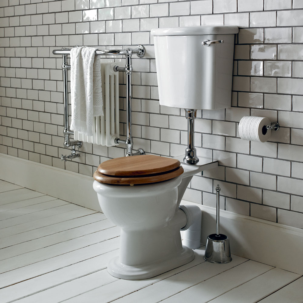 Heritage - New Victoria Low-level WC & Gold Flush Pack - Various Lever Options Feature Large Image