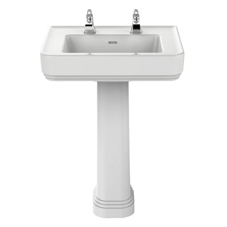 Heritage Wynwood Standard Basin & Pedestal - Various Tap Hole Options