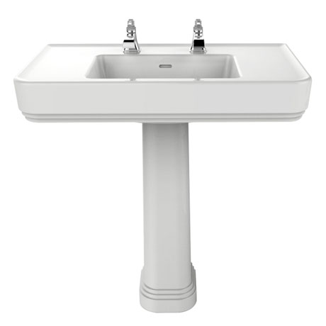 Heritage Wynwood Large Basin & Pedestal - Various Tap Hole Options