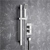 Plaza Square Twin Concealed Thermostatic Shower Valve + Slider Rail Kit Medium Image