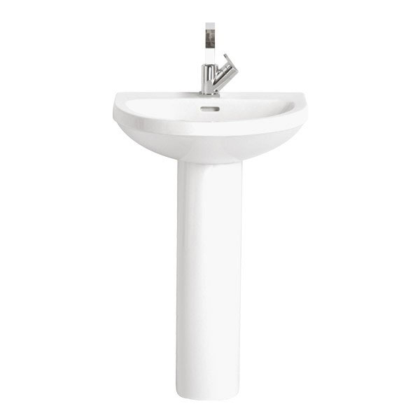 Heritage - Zaar 55cm 1TH Basin & Pedestal profile large image view 1