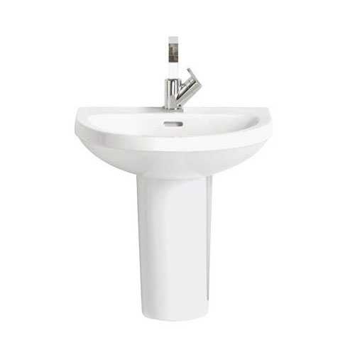 Heritage - Zaar 60cm 1TH Basin & Semi Pedestal Large Image