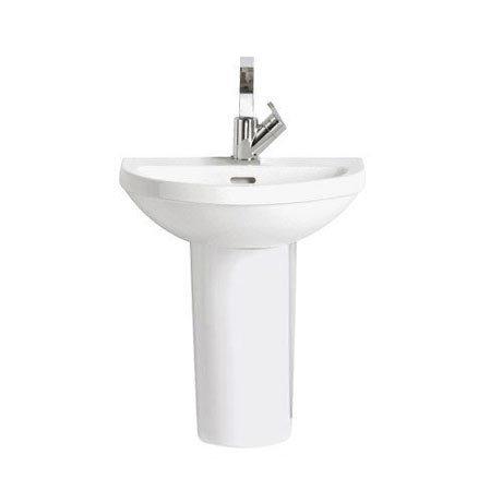 Heritage - Zaar 1TH Cloakroom Basin & Semi Pedestal