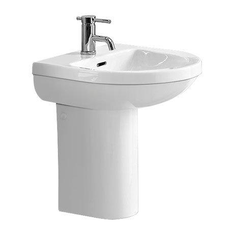 Heritage Zaar 1TH Cloakroom Basin & Semi Pedestal