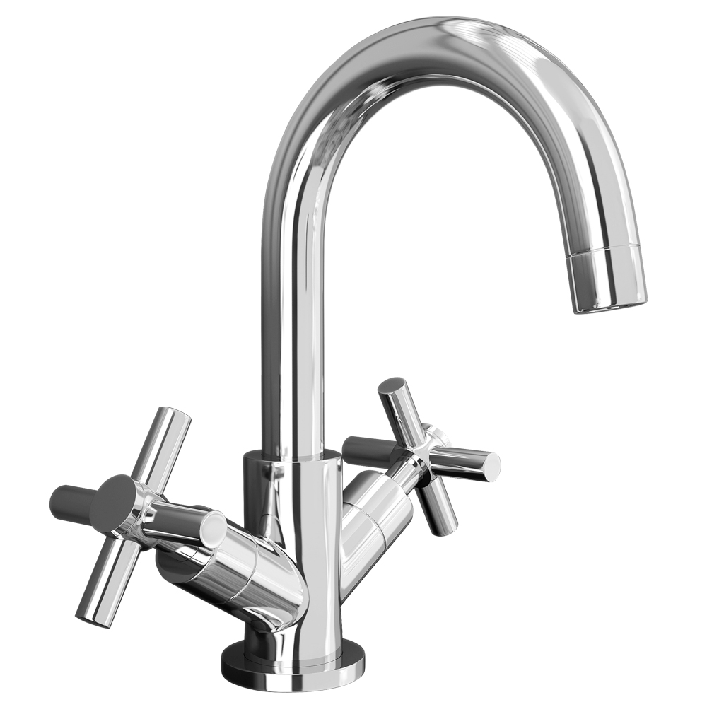 Pablo Modern Basin Mixer with Click Clack Waste - Chrome Large Image