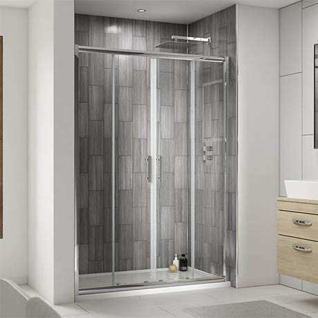 Pacific Double Sliding Shower Door - Various Sizes