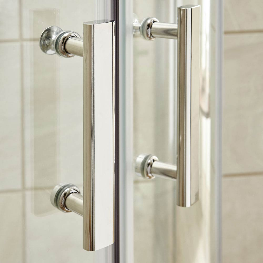 Pacific Offset Quadrant Shower Enclosure Inc. Tray + Waste (Left Hand)  additional Large Image