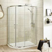Pacific Offset Quadrant Shower Enclosure Inc. Tray + Waste (Left Hand) Medium Image