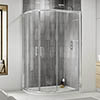 Pacific LH Offset Quadrant Shower Enclosure Inc. Tray + Waste profile small image view 1
