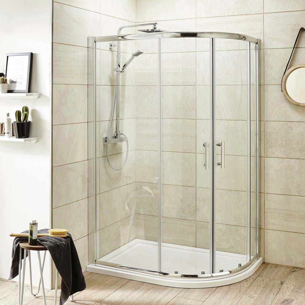 Best Quadrant Shower Enclosure Part - 22: Pacific Offset Quadrant Shower Enclosure Inc. Tray + Waste (Right Hand)  Medium Image