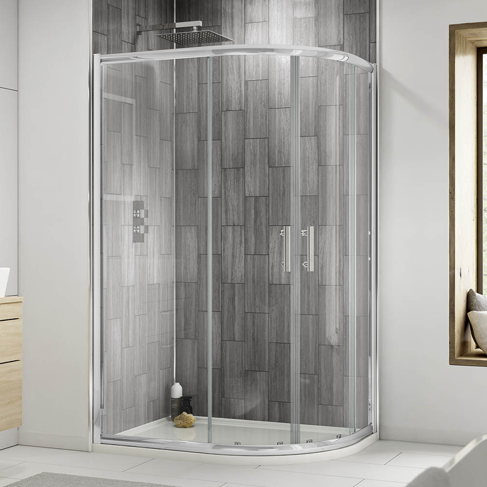 900x760mm Pacific Offset Quadrant Shower Enclosure | Victorian Plumbing