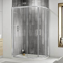 Pacific RH Offset Quadrant Shower Enclosure Inc. Tray + Waste Medium Image