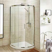 860 x 860mm Pacific Single Entry Quadrant Enclosure Inc. Shower Tray + Waste Medium Image