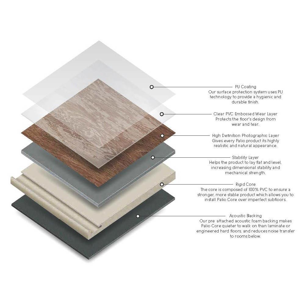 Karndean Palio Core Pienza 600 x 307mm Vinyl Tile Flooring - RCT6303  In Bathroom Large Image