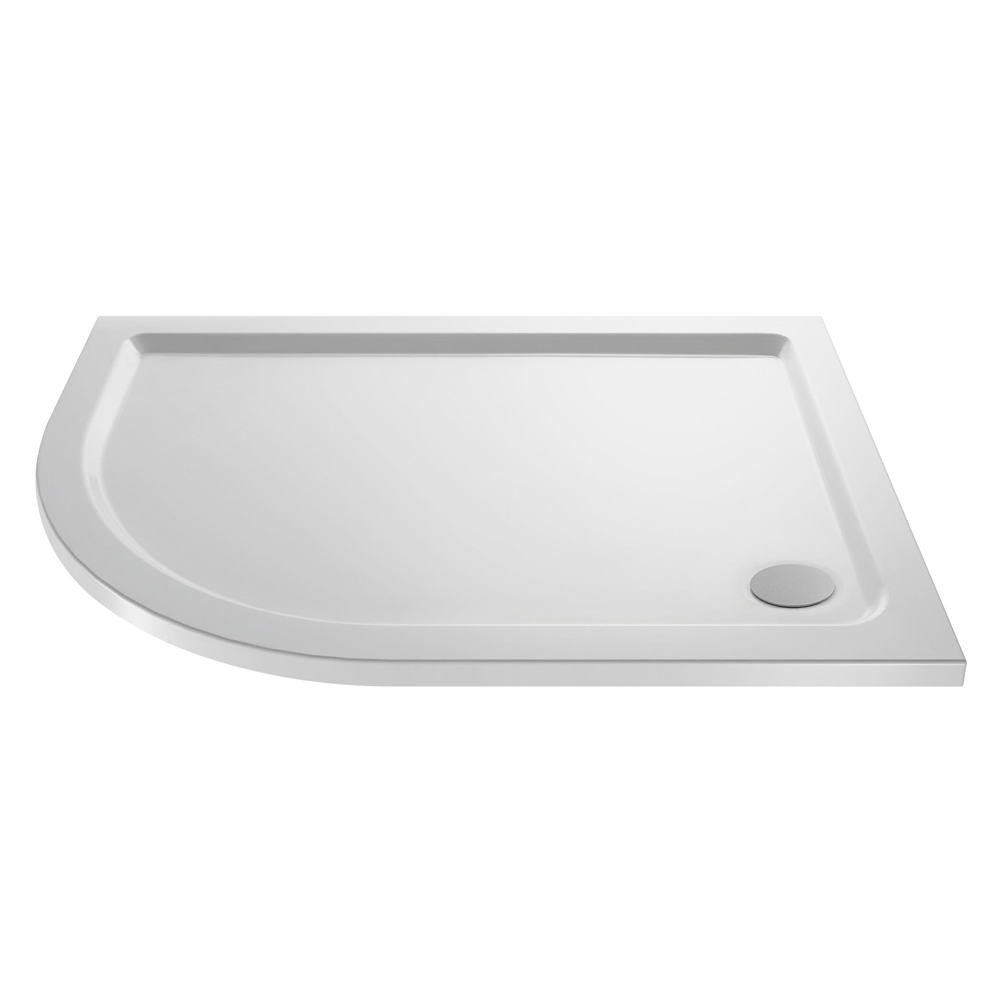 Pearlstone Offset Quadrant Shower Tray - Left Hand Large Image